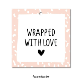 Cadeaulabel - Wrapped with love