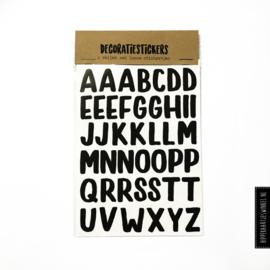 Stickers letters groot - 2 vellen
