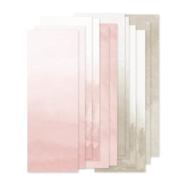 Papierstroken roze/beige 'watercolor'  (12 stuks)