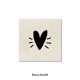 Minikaartje | Hartje