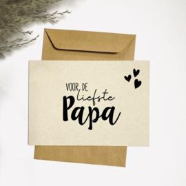 Ansichtkaart - Voor de liefste papa