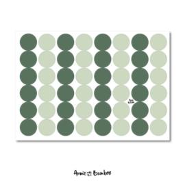 Stickervel - Effen groen