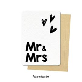 Ansichtkaart - Mr & Mrs