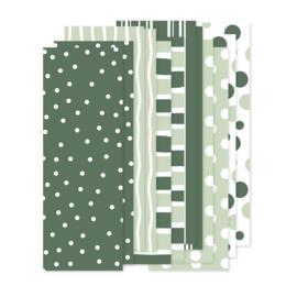 Papierstroken groen (12 stuks)