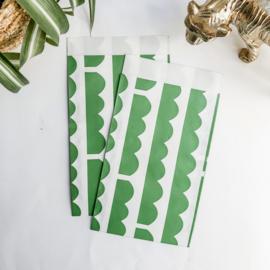 Zakje groen/wit - 5 stuks
