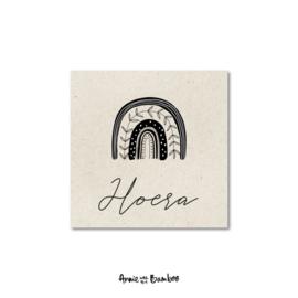 Minikaartje - Hoera (regenboog)