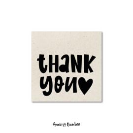 Minikaartje - Thank you (hartje)