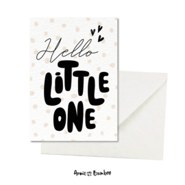 Wenskaart - Hello litte one