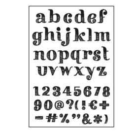 Stempels alfabet STRIPES