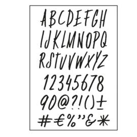 Stempels alfabet FUNKY
