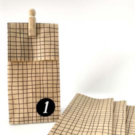 Blokbodemzak GERUIT mini - 5 stuks