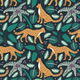 Inpakpapier 'Jungle Panter' 30 x 300 cm
