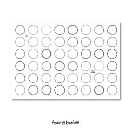 Stickervel - Tekstkaders