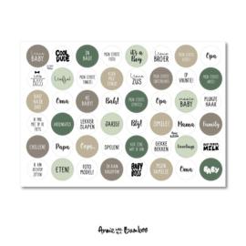Stickervel - Baby groen