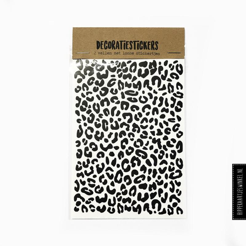 Stickers luipaard - 2 vellen