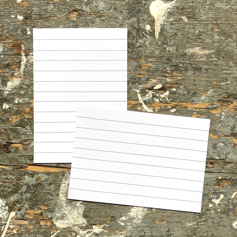 Tekstkaartjes (12 stuks) - voor in je fotoboek