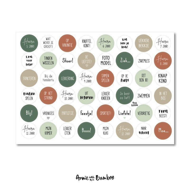 Stickervel - Kind (5-12 jaar) groen