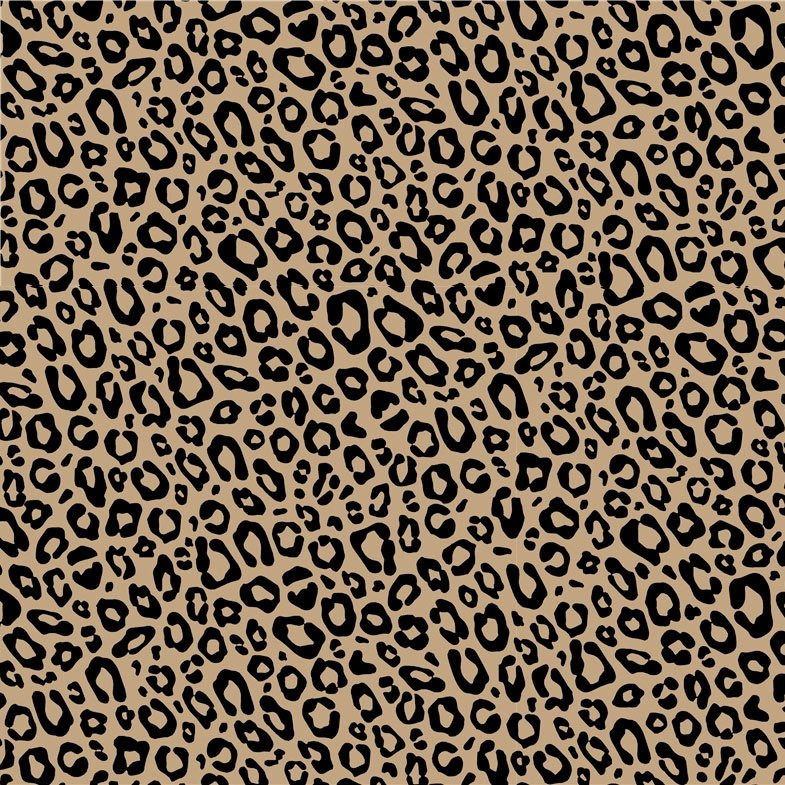Inpakpapier 'Kraft luipaard' 30 x 300 cm