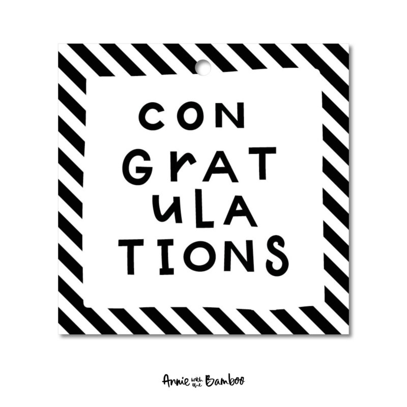 Cadeaulabel   Congratulations