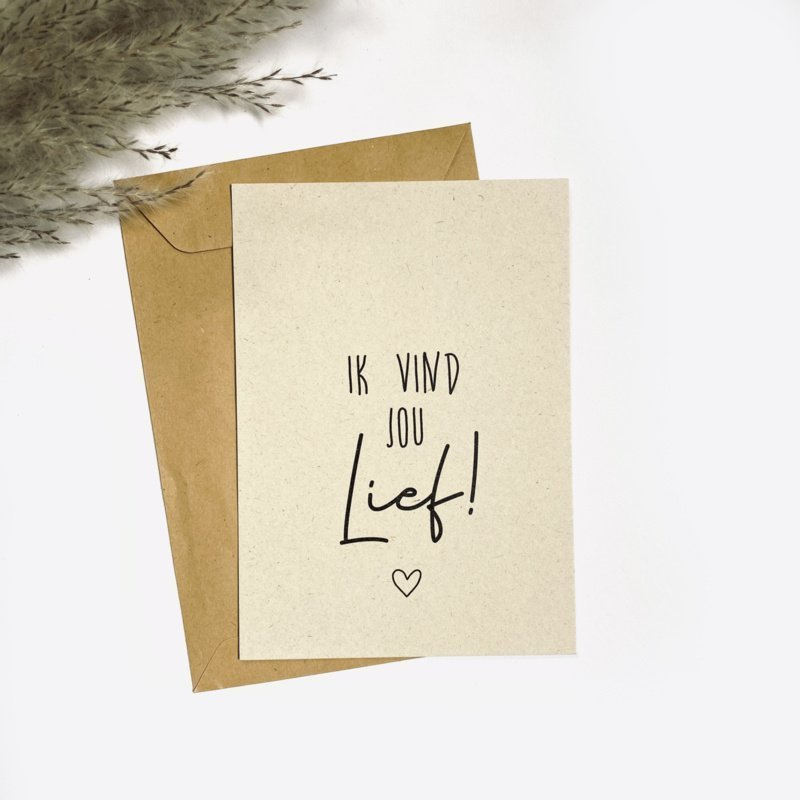 Ansichtkaart - Ik vind jou lief!