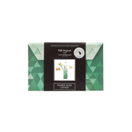 Paper vase cover Green gradient small