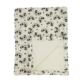 Barabrenda | Babydeken panda zwart/ wit
