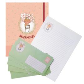 Briefpapier meisje met bril