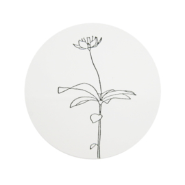 Stickers lijntekening bloem 10 stuks