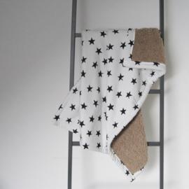 Babydeken ster zwart/ wit