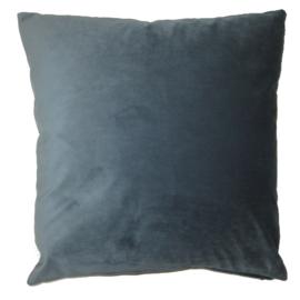 Kussenhoes blauw met print 50x50