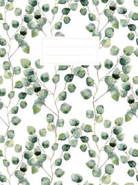 Schrift Leaves met ruiten