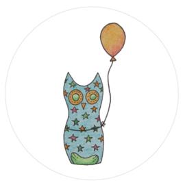 Barabrenda | Stickers Ukkie de Uil 6 stuks