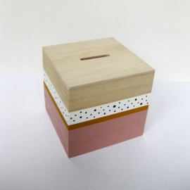 Barabrenda | Spaarpot roze & stip