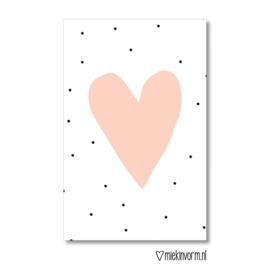 MIEKinvorm | Mini kaart hart