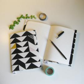 Barabrenda | Notitieboekje grafisch zwart/ wit, roze & oker