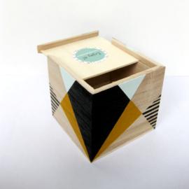Barabrenda   Spaarpot geometrisch mint