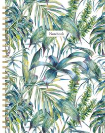 Notebook Leaves met lijnen