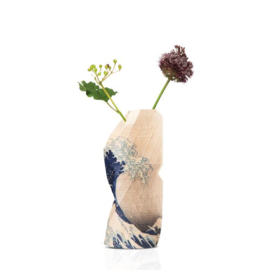 Paper vase cover The wave small