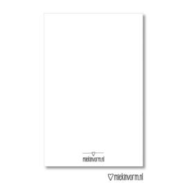 MIEKinvorm | Mini kaart Dank je wel