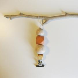 Barabrenda | Kaarthanger oranje met wit draad
