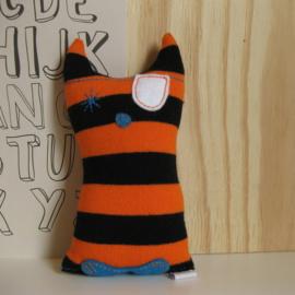 Kronkel de Kat oranje/ zwart gestreept