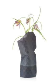 Paper vase cover Watercolor grey small
