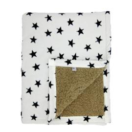 Barabrenda | Babydeken ster zwart/ wit