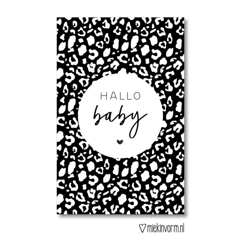MIEKinvorm   Minikaart Hallo baby