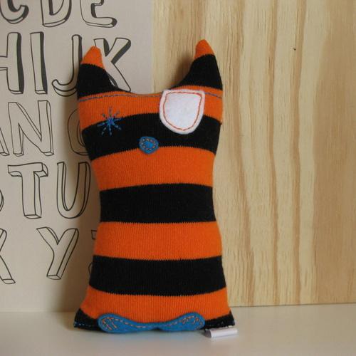 Barabrenda | Kronkel de Kat oranje/ zwart gestreept
