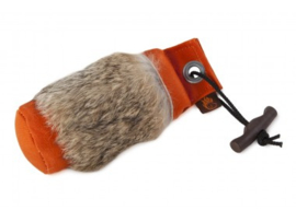 Firedog canvasdummy oranje met konijnvel