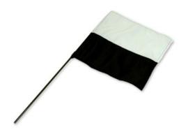 Markeervlag zwart/wit