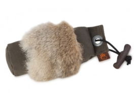 Firedog canvasdummy khaki met konijnvel
