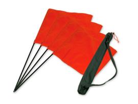 Markeervlaggen set oranje (4 st.)