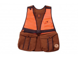 Jachtvest Firedog bruin/oranje